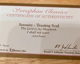 Seraphim Serenity Trusting Soul Angel Sculpture6x6x4.5inHxWxD
