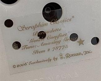 Seraphim Bernadette Gentle Comfort Music Box8x4.5x4.5inHxWxD