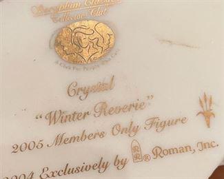 Seraphim Crystal Winter Reverie Angel Sculpture8x6x5inHxWxD