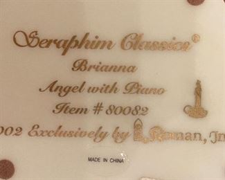 Seraphim Brianna Angel with Piano Angel Sculpture4x5x3.5inHxWxD