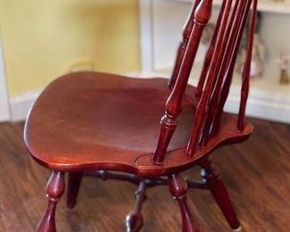 2pc Duxbury Windsor Fan Back Side Chairs PAIR36x19x21inHxWxD