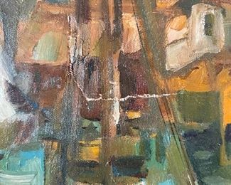 *Original* AS-IS Don Ruffin Boat Harbor Painting30.5x42.5x2inHxWxD