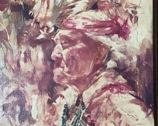 Don Ruffin Native American Woman Print on Board27x21in