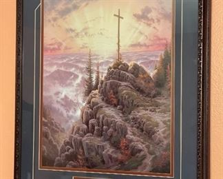 Thomas Kinkade Sunrise John 3:16 Framed Print27.5x21.5inHxWxD
