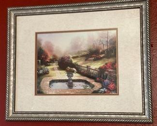 Thomas Kinkade Gardens Beyond Autumn Gate Framed/Matted Print12.5x16in