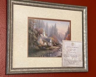 Thomas Kinkade The Forest Chapel Framed/Matted Print12.5x16in
