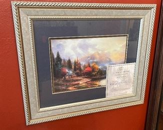 Thomas Kinkade The End of A perfect Day III Framed Matted Print14.5x17.5in