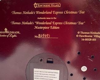 Thomas Kinkade Train Tree Wonderland Express16in H