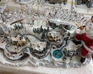 Thomas Kinkade Santa's Inspiration Christmas Village9.5x17x6inHxWxD