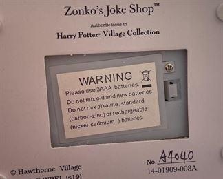 Harry Potter Zonko's Joke Shop Hawthorne Village5.5x6x4inHxWxD