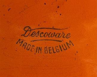 Descoware Belgium Orange Cast Iron Enamel Dutch Oven