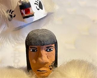 White Bear Kachina Cayaditto13in H