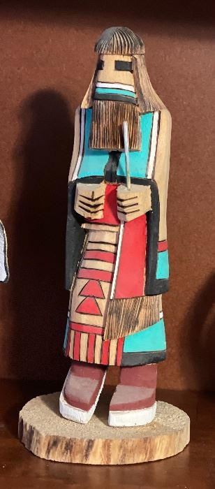 Carved Wood Kachina9.5in H