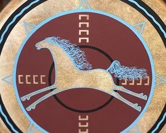 18in Carl Winters Medicine Drum Horse Coming18in Diameter
