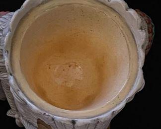 3 Headed Native American Ceramic Vase/Jar12x8x8HxWxD