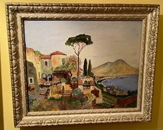 *Original* AEP Seaside Villa Painting20x24