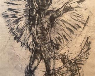 Don Ruffin Native American Eagle Dancer Print Estate Signed28x22