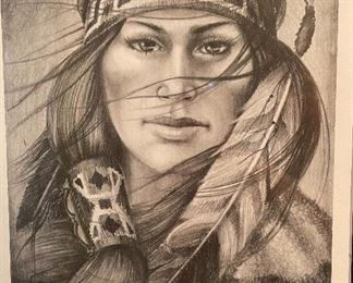 *Signed* Clouds in Her Eyes JB 92 Artist Proof Framed Print21x17