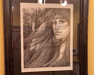 *Signed* Woman of The Wind JB 92 Artist Proof Framed Print21x17