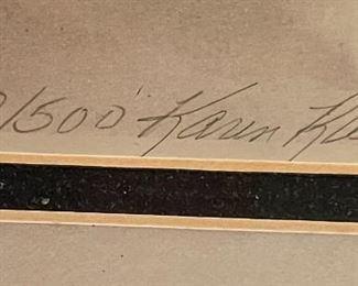 *Signed* Cowboy/Golf Pickup Framed Print Karen Rae25x31