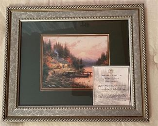 Thomas Kinkade End of A perfect Day Framed Matted Print14.5x17.5in