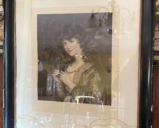 Antique Mezzotint Fred Miller Engraver W. Wontner Etching30x26in