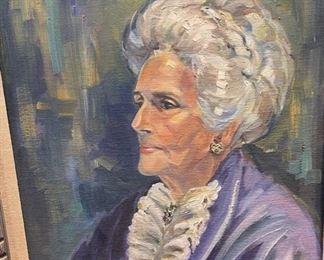 *Original* Art Lady Portrait  Joyce Kroll32x26in