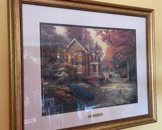 *Signed* Thomas Kinkade Victorian Autumn Framed Print Signed/Numbered23x27in