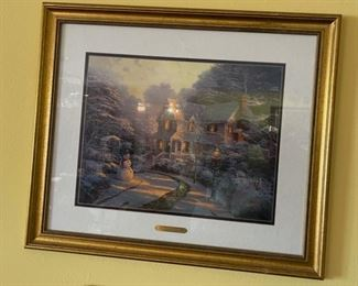 *Signed* Thomas Kinkade The Night Before Christmas Framed Print Signed/Numbered23x27in
