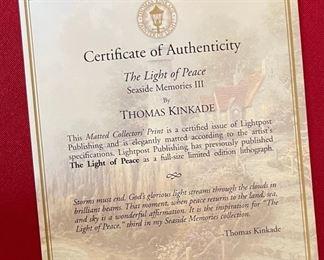 Thomas Kinkade The Light of Peace Framed Print15x18in