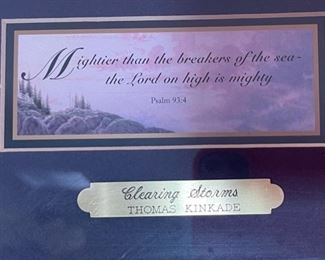 Thomas Kinkade Clearing Storms Psalm 93:414.5x14.5inHxWxD