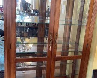 San Leandro Versailles Curio Cabinet82x42x16inHxWxD