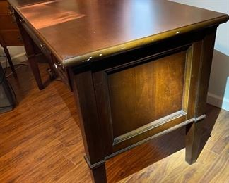 Modern Dark Wood Desk30x54x24in