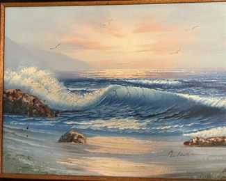Original Art Crashing Waves20x24inHxWxD