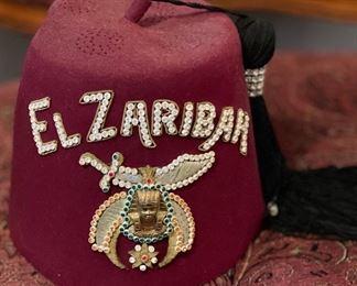 El Zaribah Jeweled Shriners Hat