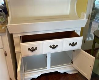White Country Cabinet Dry Sink51x40x19inHxWxD