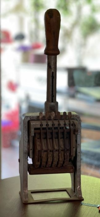 Antique Force Case Number Automatic Numbering Machine18x6x5in