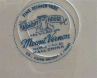 60+ piece Harmony House Mount Vernon China Set