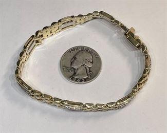 10k White/Yellow Gold & Diamond Bracelet10k