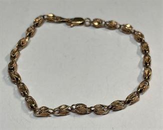 14k Rose Gold 7.5in Bracelet14k
