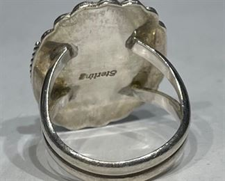 Native American Mother of Pearl Sterling Silver Ring1