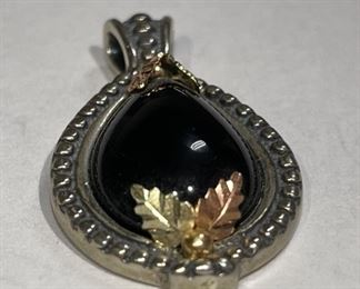 Coleman C.Co Black Hills 10k Gold Onyx Pendant10k/.925