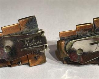 MCM Matisse Copper & Enamel Peter Pan set Necklace/Bracelet/ Earrings