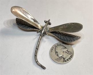 Sterling Silver Mexico Dragonfly Brooch TP-831