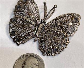 Sterling Silver Butterfly Pendant1