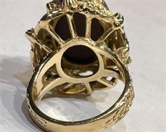 14k Gold Cameo Ring SZ 6.2514k
