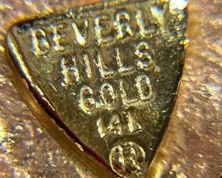 14k Gold Beverly Hills Gold Heart Pendant14k