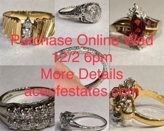 Purchase Online Wed 12/2 6pm More Details aceofestates.com