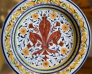 Italian  Majolica L'Albero Capovolto  Plate #212.25in Diameter