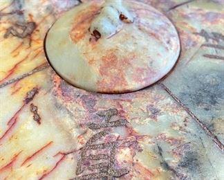 Asian Carved Stone Teapot5.5z15.25x9inHxWxD